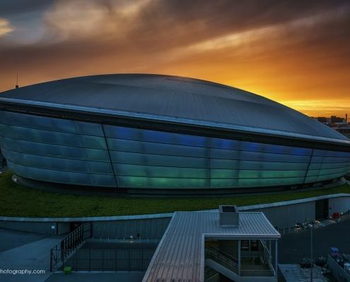 Glasgow Hydro at Sunset